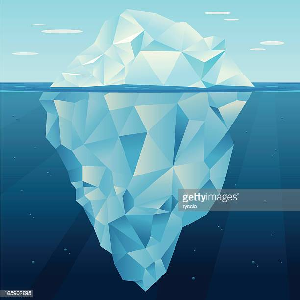 iceberg vector - berg stock illustrations