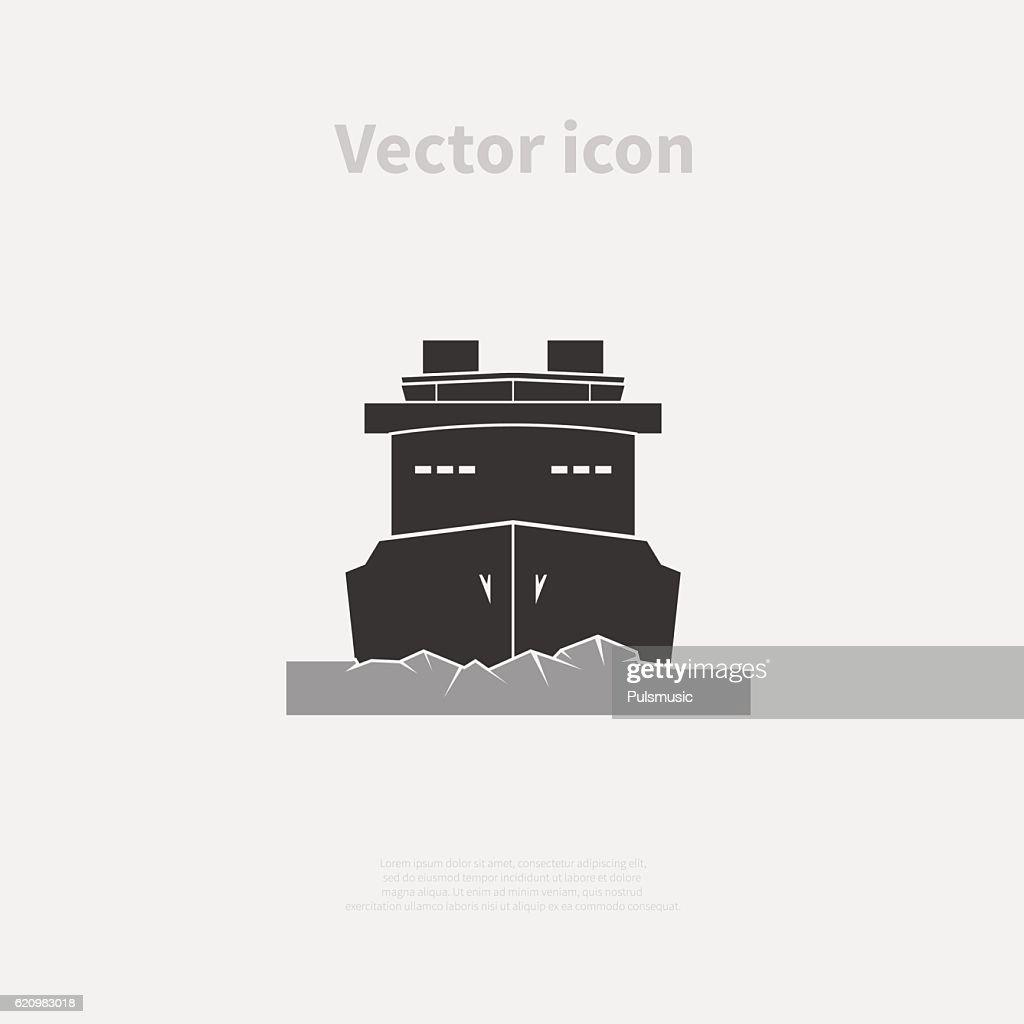 Icebreaker ship icon
