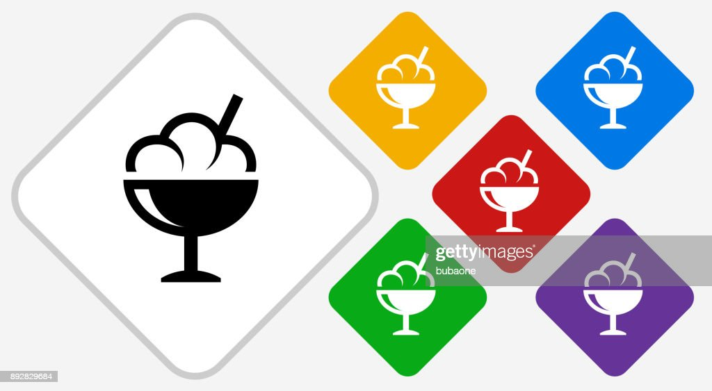 Ice-cream Color Diamond Vector Icon : stock illustration