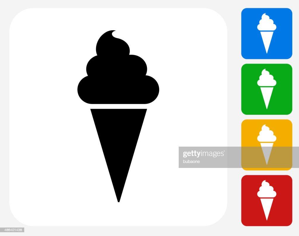 Ice-cream Cone Icon Flat Graphic Design : stock illustration
