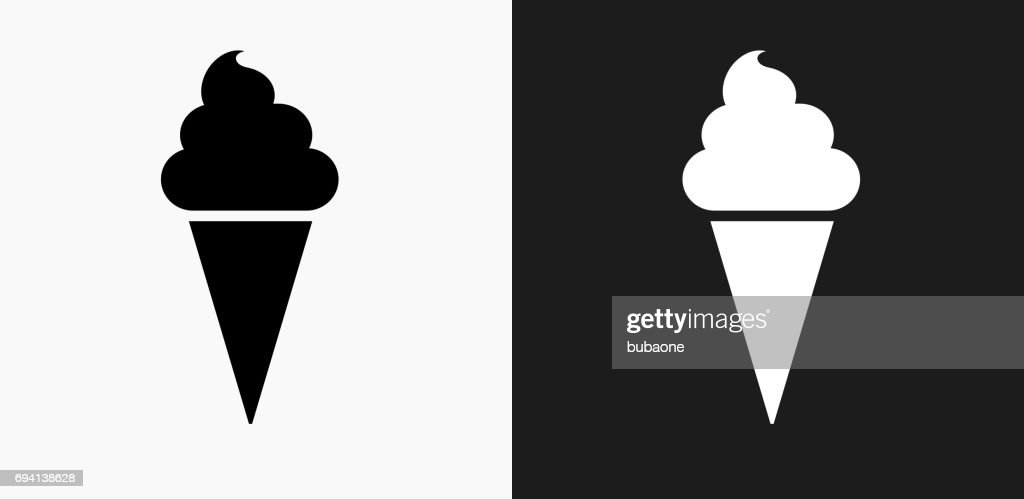 icecream cone icon on black and white vector backgrounds high res vector graphic getty images icecream cone icon on black and white vector backgrounds high res vector graphic getty images