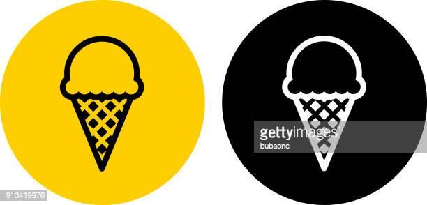 ice-cream cone. - waffle stock illustrations, clip art, cartoons, & icons