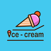 Ice-cream logotype