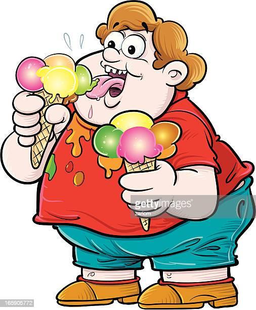 ice-cream - eating ice cream stock illustrations, clip art, cartoons, & icons