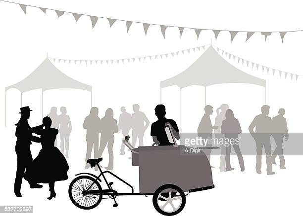 icecreammerchant - tent stock illustrations, clip art, cartoons, & icons