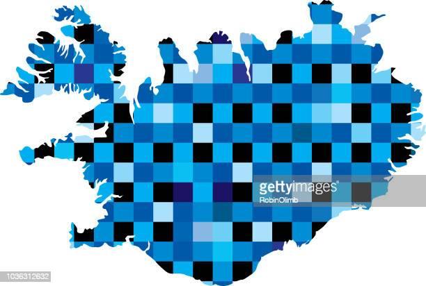 Blaue Quadrate Island Karten