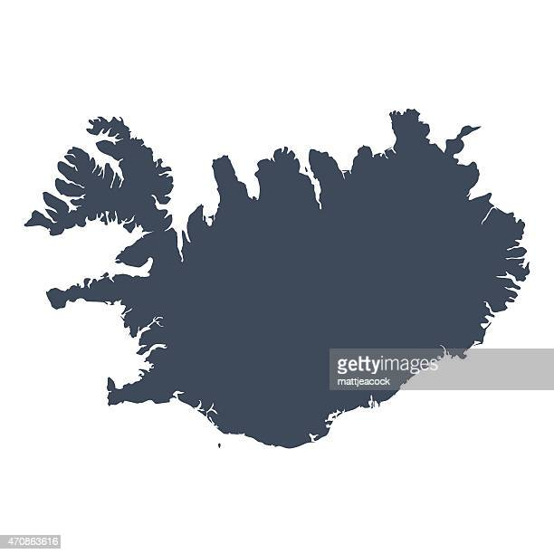 iceland country map - iceland stock illustrations
