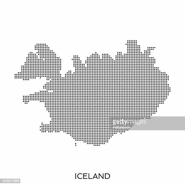 Iceland dot halftone pattern map