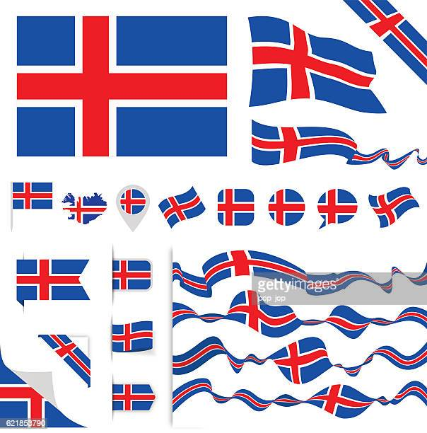 Iceland Flag Set