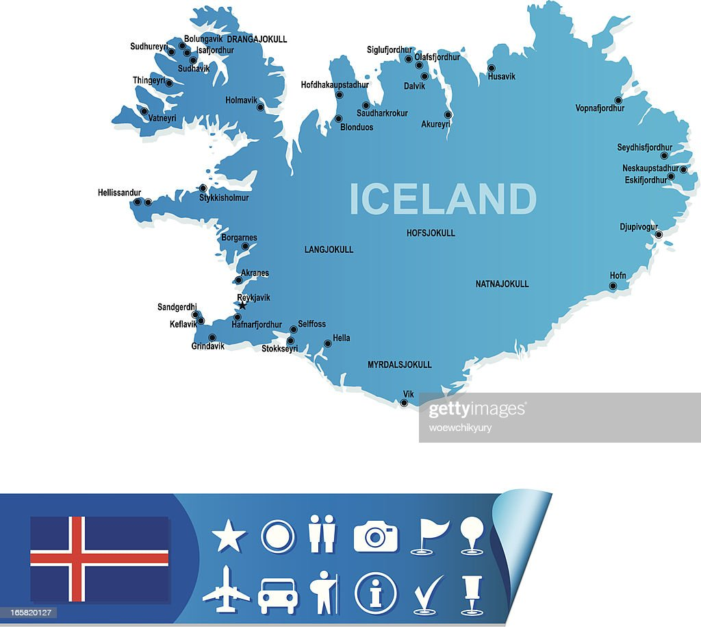 Iceland Map stock vector - Getty Images