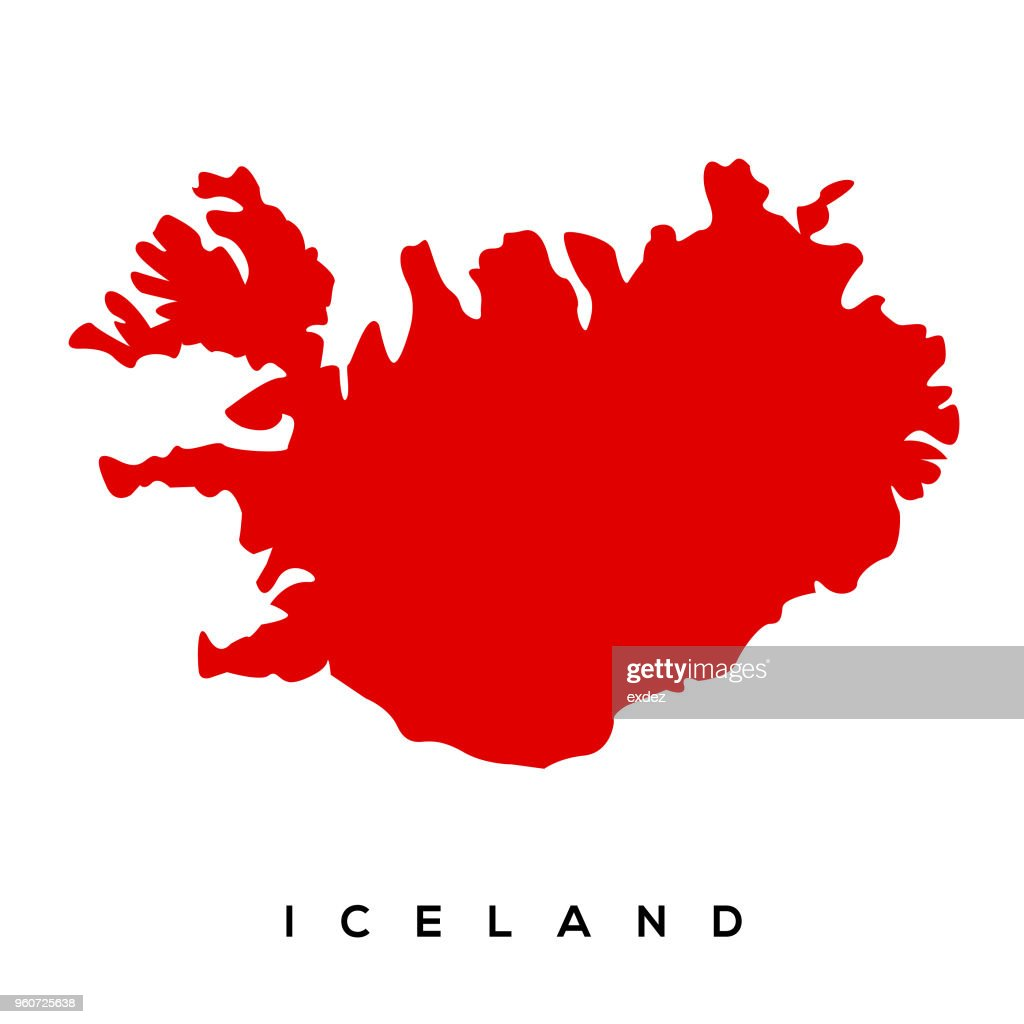 Iceland Map stock vector | Getty Images