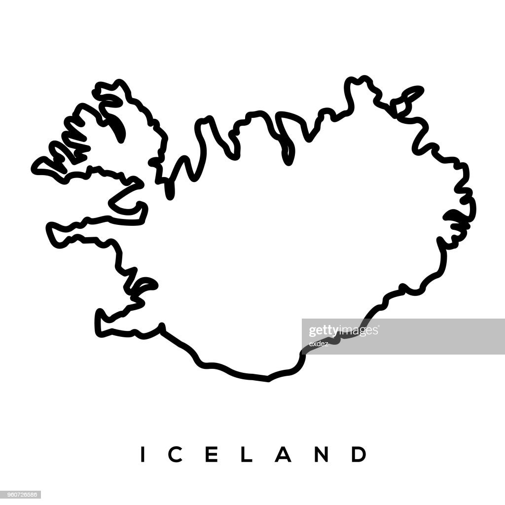 Iceland Map Vector Art | Getty Images