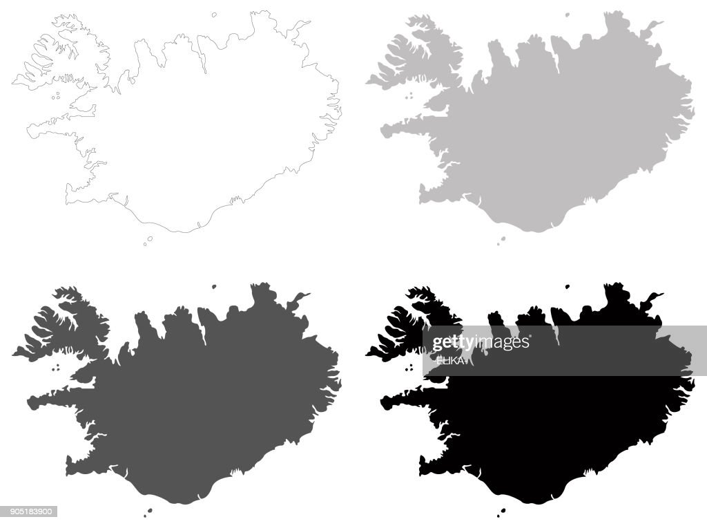 Iceland Maps stock vector - Getty Images
