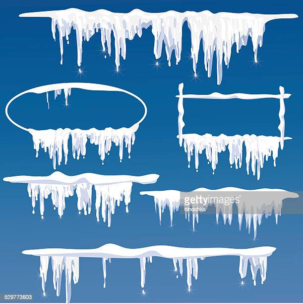 icicles frames - frost stock illustrations, clip art, cartoons, & icons