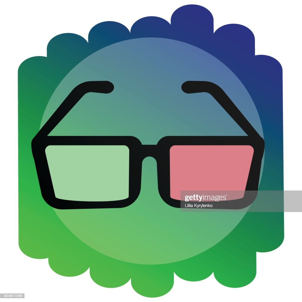 Icon 3d glasses. The sign of the cinema.