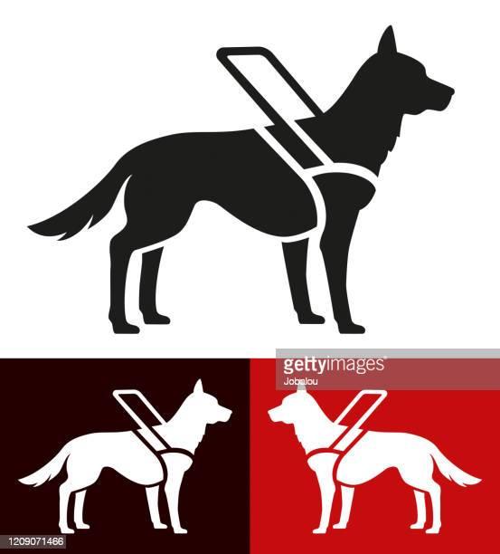 視覚障害者のためのアイコン補助犬 - 盲導犬点のイラスト素材/クリップアート素材/マンガ素材/アイコン素材