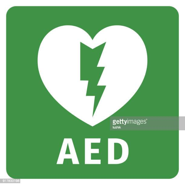 AED icon - Automated external defibrillator