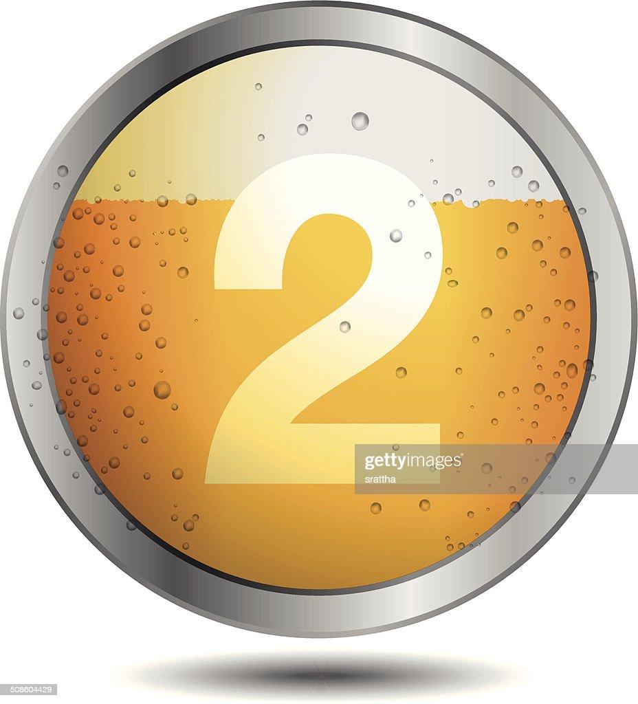 Icono de cerveza alfabeto letras 2 : Arte vectorial