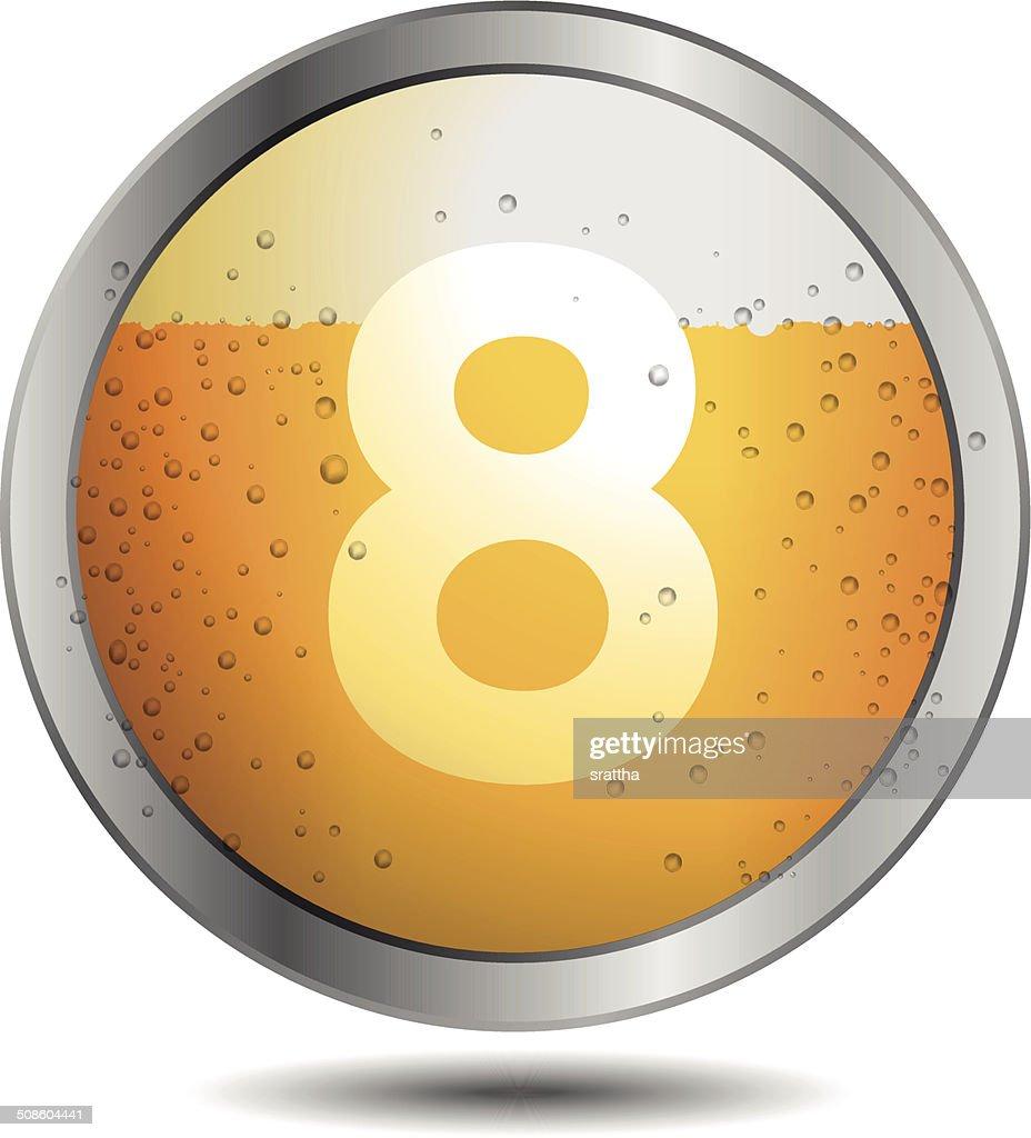 Icon Beer Alphabet Font 8 : Vector Art