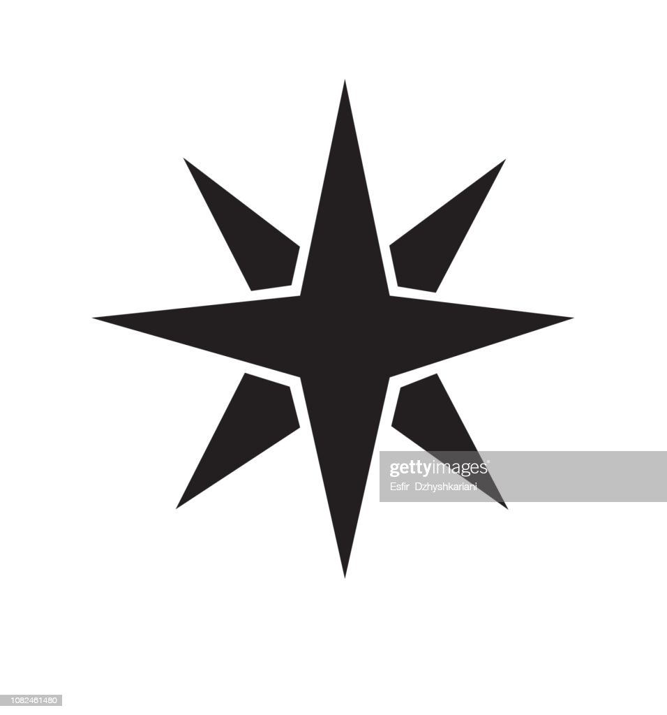 Icon Christmas flat star icon gold vector isolated on white