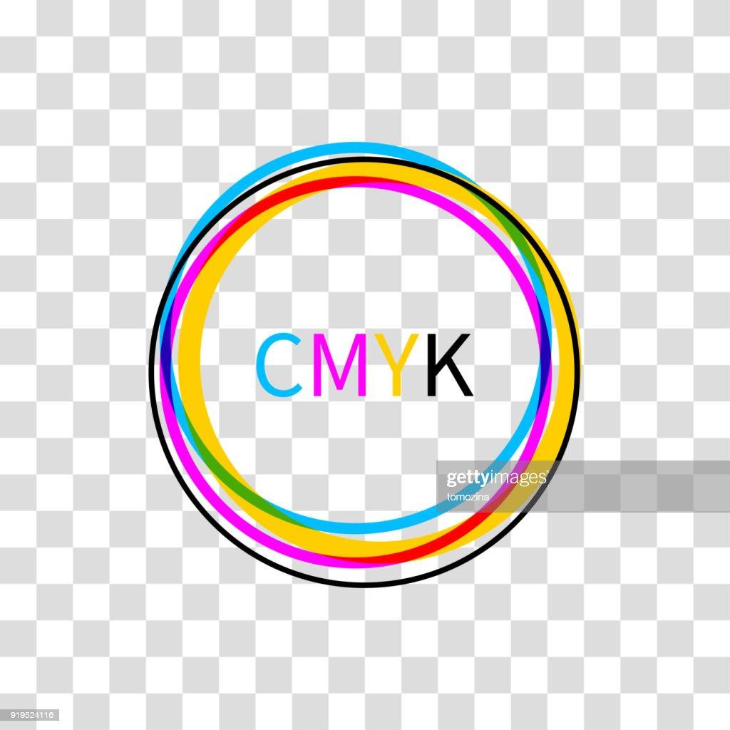 Icon CMYK on white background