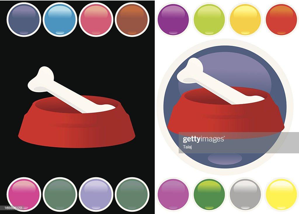 Icon dog bowl : stock illustration