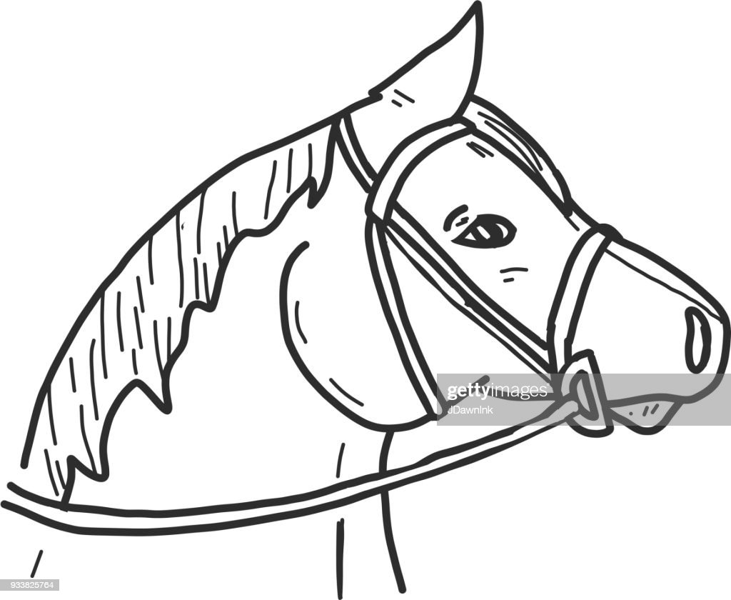 Icon Drawing Of A Horse Head Side View High Res Vector Graphic Getty Images