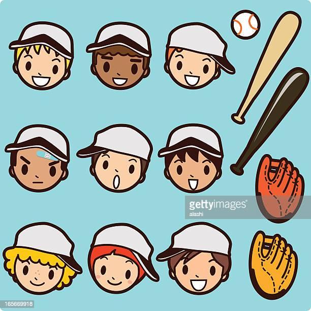 アイコン、Emoticons :野球では、お子様用のゲーム日