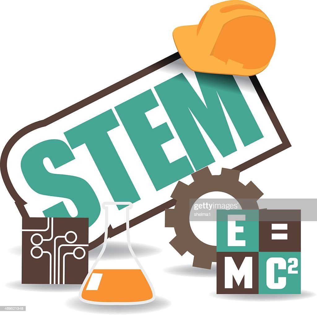 STEM icon flat design EPS 10 vector