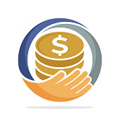 icon  for fundraising, business loan money, save money, and other financial management