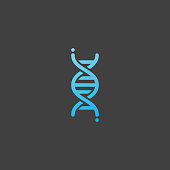 DNA icon, genetic sign