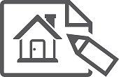 BW icon - House blueprint