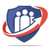 icon icon for insurance business, family insurance