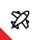 Icon illustration for aircraft / airplane
