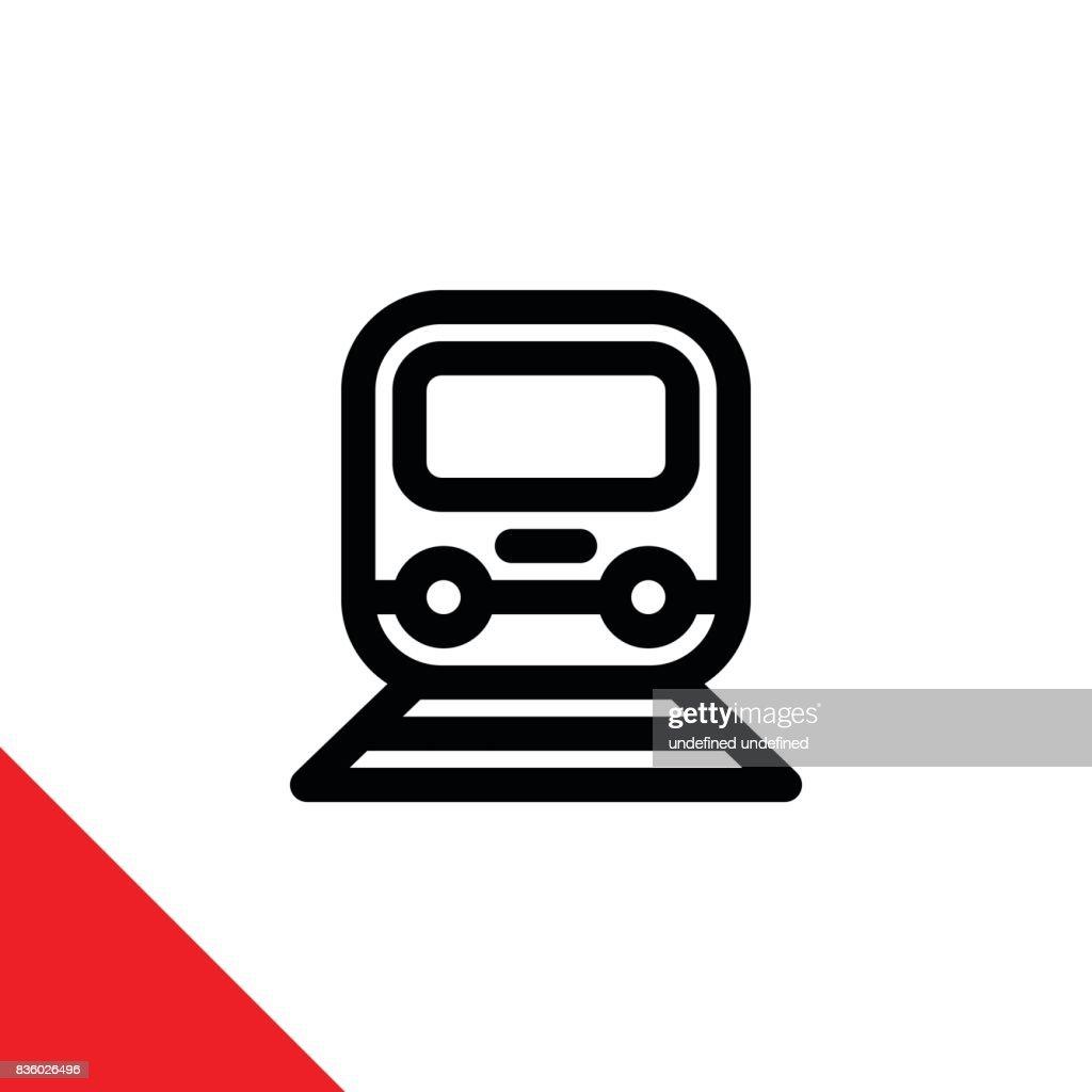 icon illustration for train
