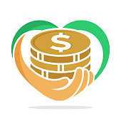 icon illustration with concept, fundraising, business loan money, money saving, and other financial management.