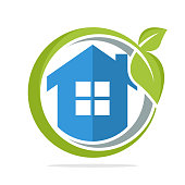 icon illustration with the concept of environmentally friendly home energy management