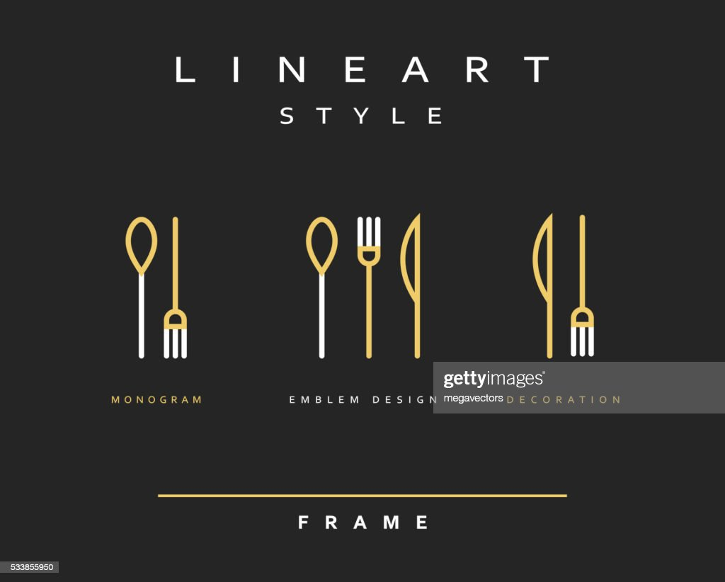 Icon knife, fork and spoon