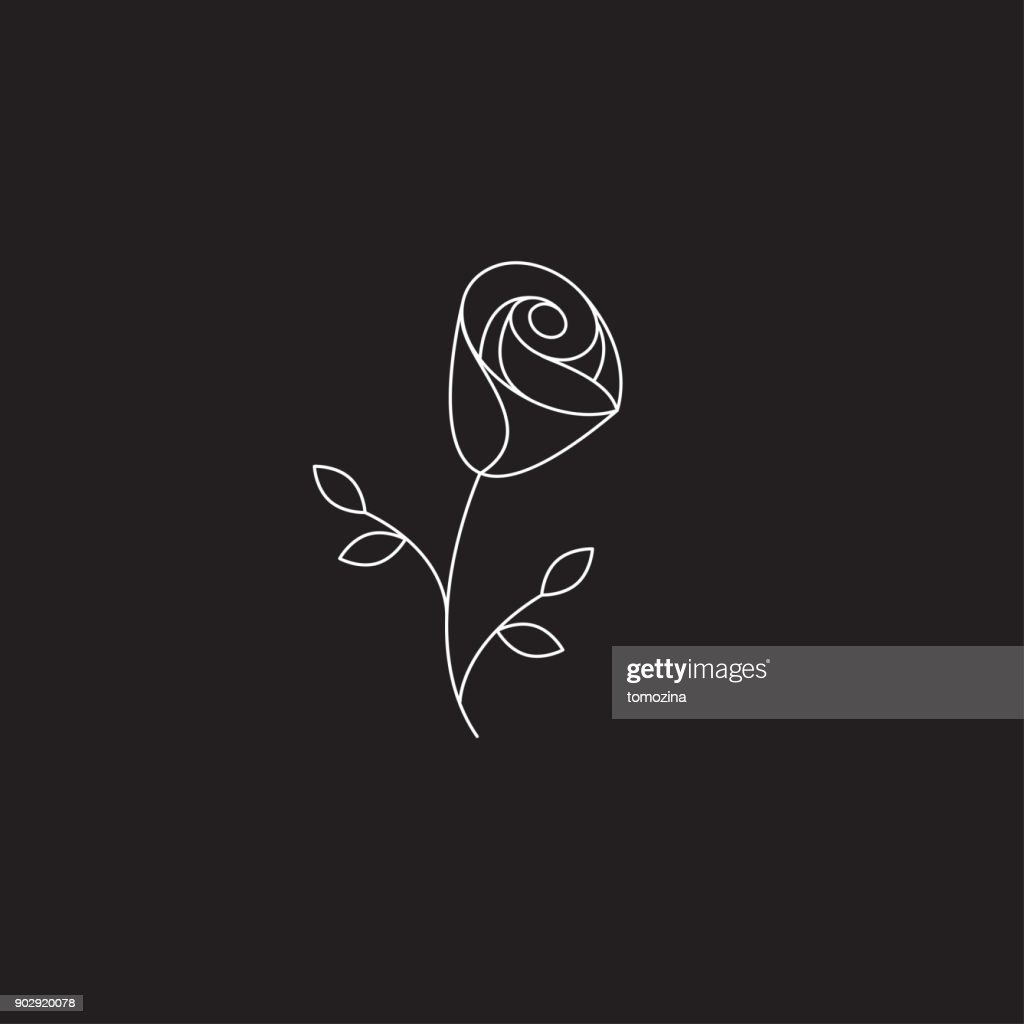 Icon linear rose