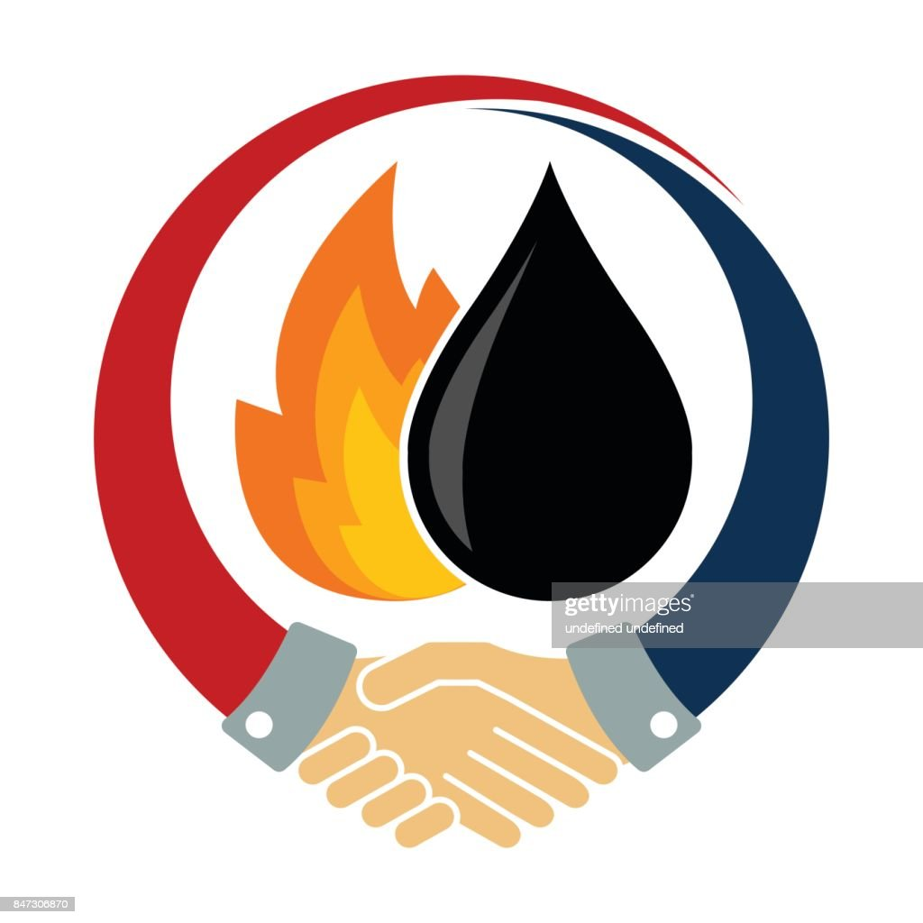 Icon Logo Illustration For Oil And Gas Energy Business Cooperation