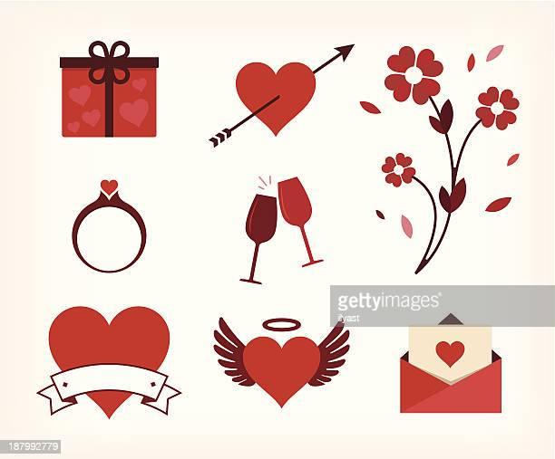 illustrations, cliparts, dessins animés et icônes de icône: l'amour - cupidon and saint valentin