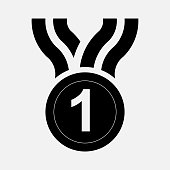 icon medal, prize, first place