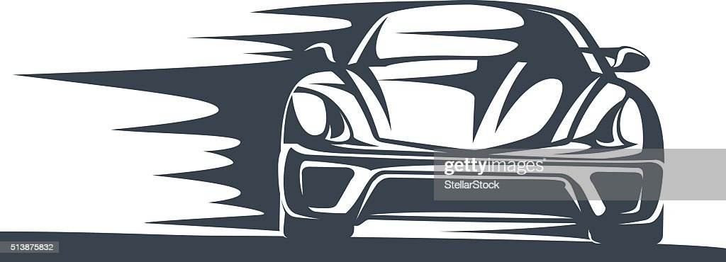 Icon of a Fast racing car in motion
