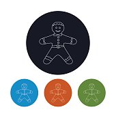 Icon of a  Gingerbread Man