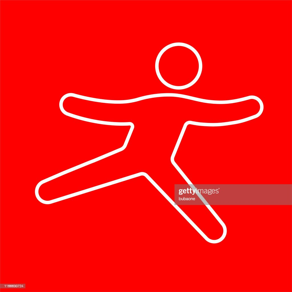 Icon of a man skipping : stock illustration