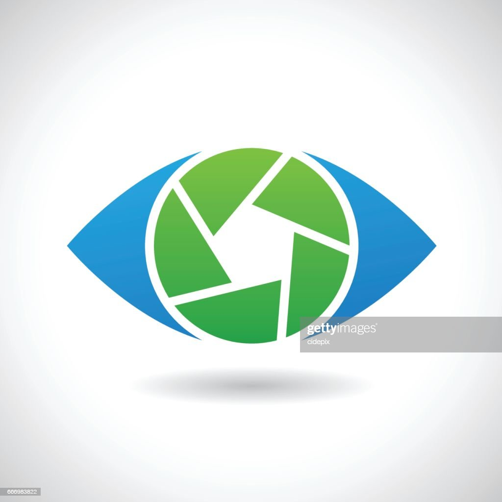 Icon of a Shutter Eye Vector Illustration