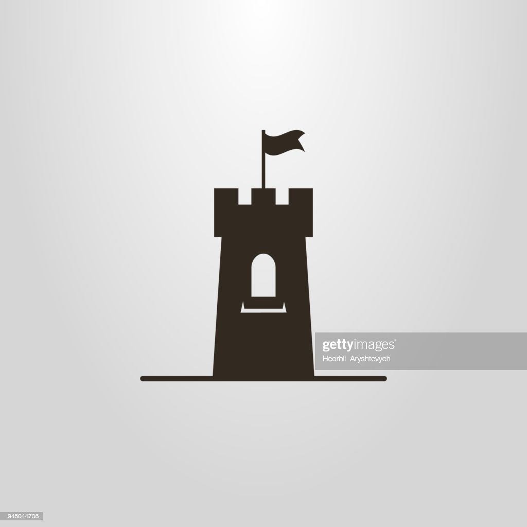 icon of a tower with a flag