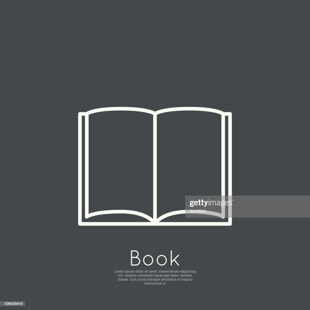 Icon of an open book