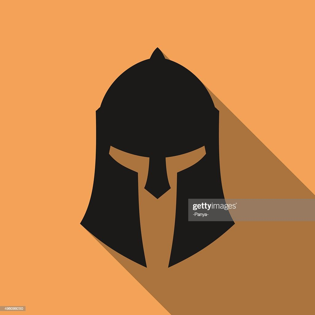 Icon of ancient Greek, Roman, Spartan helmet.