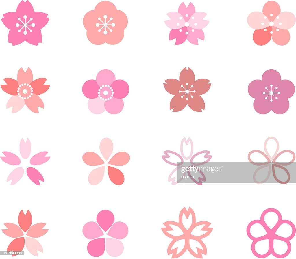Icon of cherry blossom